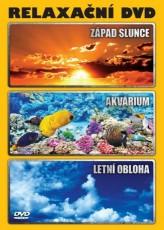 DVD / FILM / Relaxační DVD / Západ slunce / Akvárium / Letní obloha