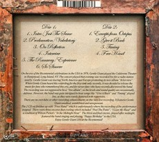2CD / Gentle Giant / Live At the Bicentennial / 2CD / Digipack
