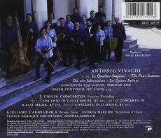 CD / Vivaldi / Four Seasons / Carmignola / Marcon