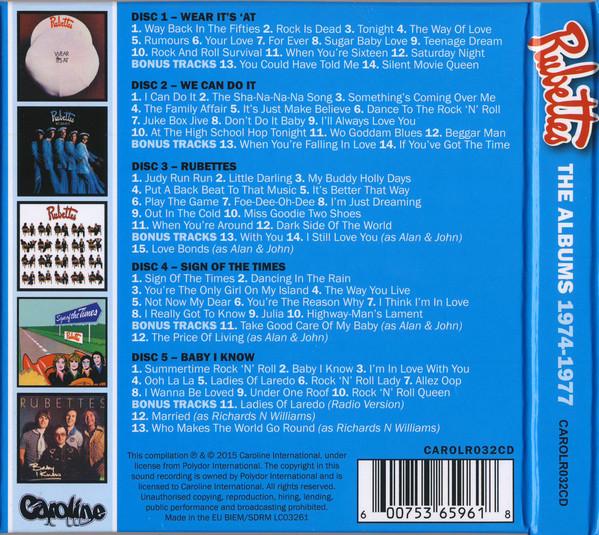 Rubettes | 5 CD Albums 1974-1977 / 5CD Box | Musicrecords