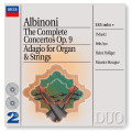 CDAlbinoni / Complete Concertos Op.9 / Adagio For Organ And St.