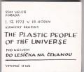 2CDPlastic People Of The Universe / Do lesíčka na čekanou / 2CD